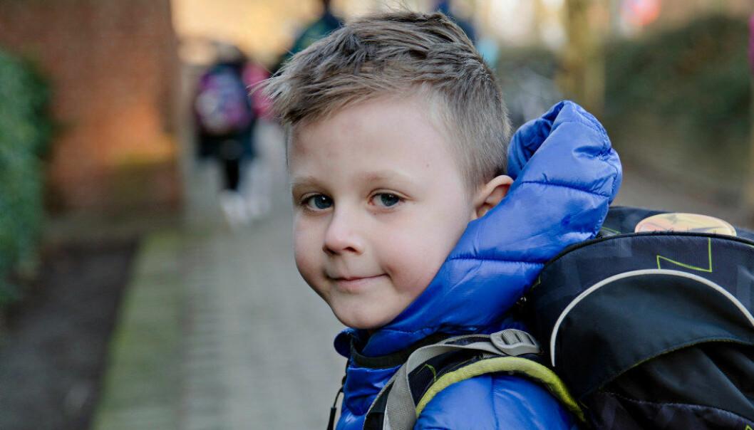 Luka (7) går første klasse om igjen - og stortrives. Foto: Kristian Ridder-Nielsen