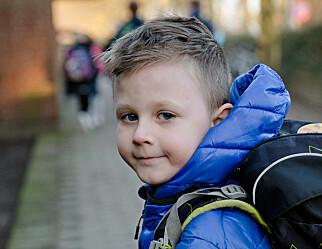 Luka (7) går første klasse om igjen