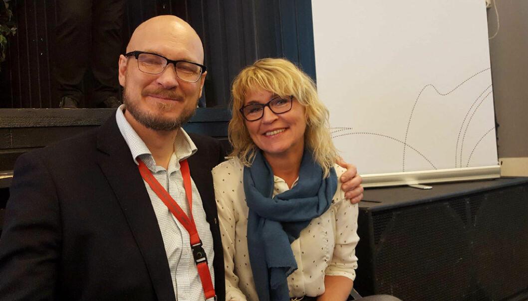Arnt Holger Jensen og Gun Åse Paulsen er valgt til leder og nestleder i Utdanningsforbundet Finnmark. Foto: Kirsten Ropeid