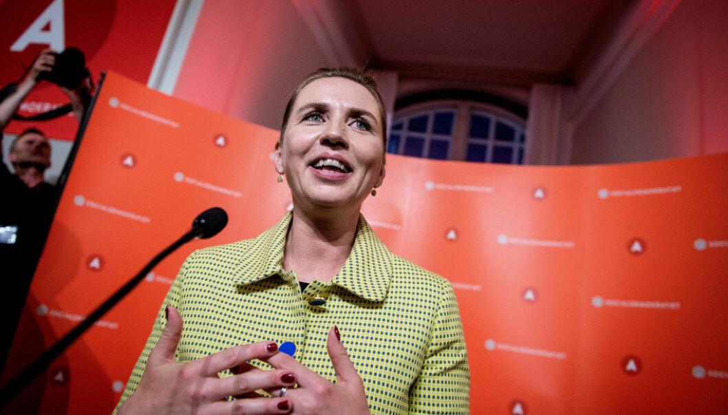 Sosialdemokratenes leder Mette Frederiksen blir høyst sannsynlig Danmarks nye statsminister etter valget 5. juni. Foto: Reuter/NTB Scanpix