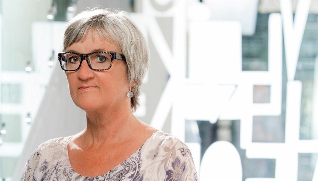Fylkeslagsleder i Nordland, Gerd-Inger Simonsen, reagerer på forslaget om å legge ned studiestedene på Nesna og Sandnessjøen. Foto: Utdanningsforbundet