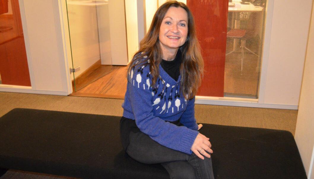 Merete Henden Kronholm er norsklærer ved Mysen videregående skole og mottager av prisen for Fabelaktig formidling 2017. Foto: Hege Lunde