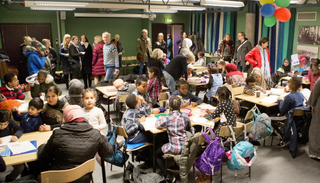 Leksehjelpen på Torshov bibliotek er et populært tilbud. Foto: Anette Andresen