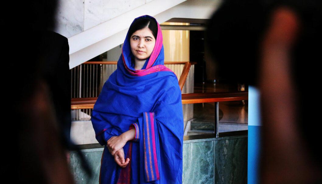 Malala Yousafzai støtter en skoleelev som risikerer å bli sendt fra Norge tilbake til Afghanistan. Arkivfoto: Jørgen Jelstad
