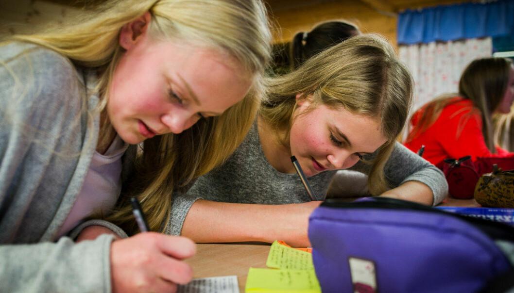 Jentene dreg ifrå gutane i skuleprestasjonar. Ill. foto: Torkjell Trædal