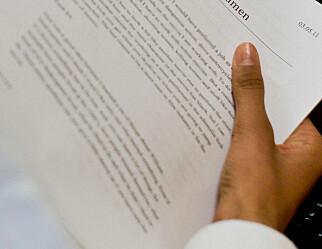 Vurderinga av eksamensoppgåver spriker