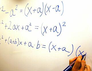 To av tre strøk på forkurset i matematikk