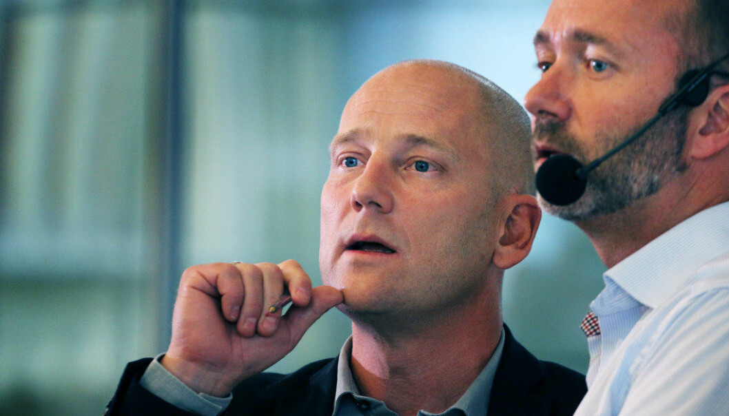 Steffen Handal og Trond Giske (Ap). Foto: Utdanning
