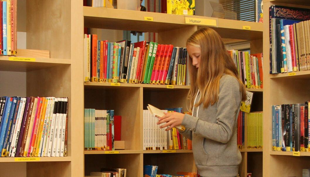 Bibliotekforeningen er en av ti organisasjoner som etterlyser et lovverk for skolebibliotekene. De mener stram skoleøkonomi rammer bibliotekene. Arkivfoto: Utdanning