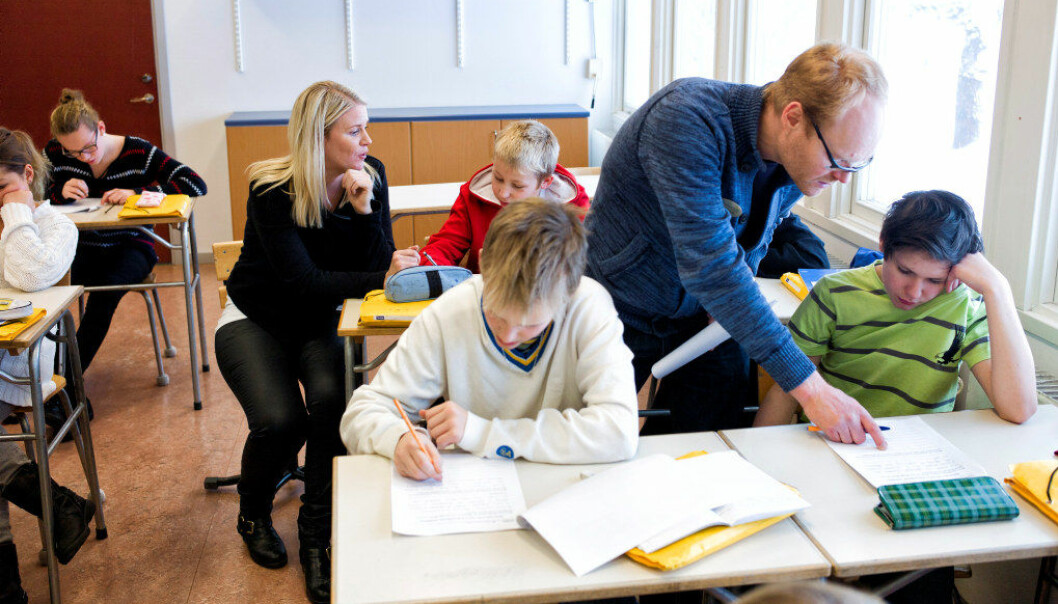 En delrapport fra Statistisk sentralbyrå finner ikke effekt på læringsutbytte med mindre gruppestørrelse. Arkivfoto: Erik M. Sundt.