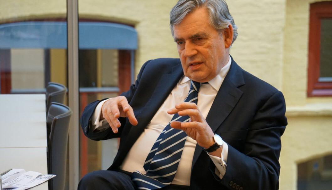 Gordon Brown tegnet ikke et positivt bilde av den globale utdanningssituasjonen. Foto: Marianne Ruud