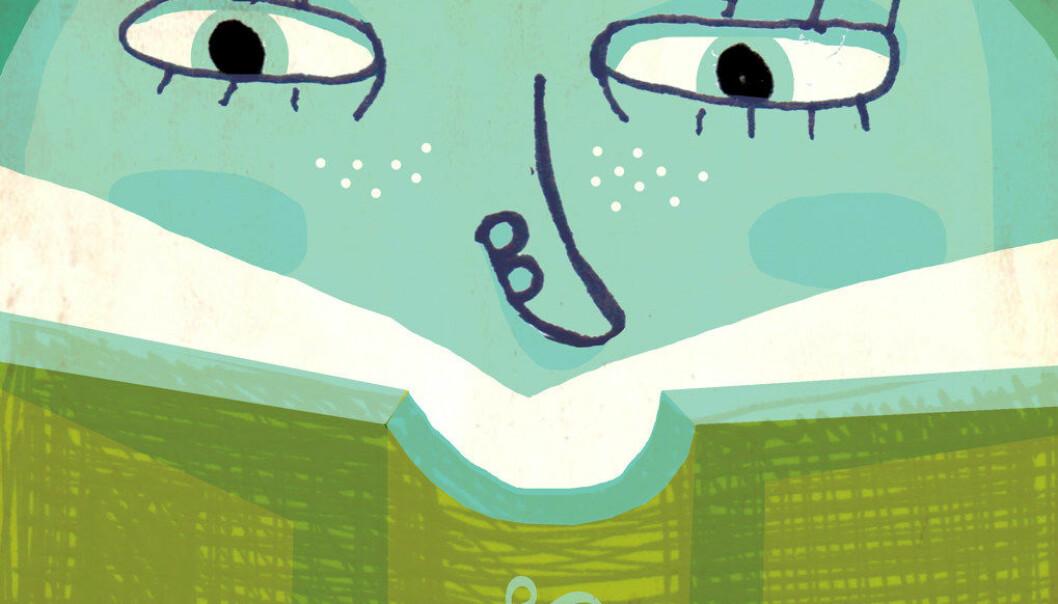 En rektor leste høyt for en elev under nasjonale prøver i lesing. Hun sier hun gjorde det for at barnet ikke skulle bli påtvunget et unødvendig nederlag. Illustrasjon: Tone Lileng