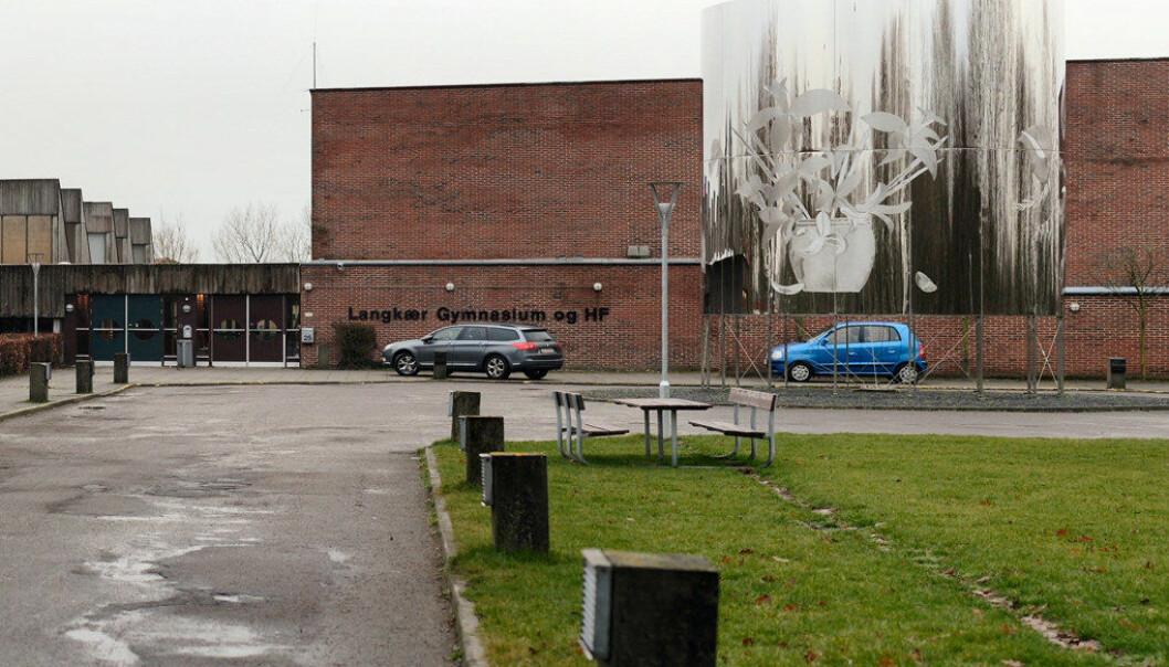 Rektoren ved Langkær Gymnasium i Danmark har tatt grep i elevgruppen som er kontroversielle. Foto: Villy Fink Isaksen / wikipedia.da