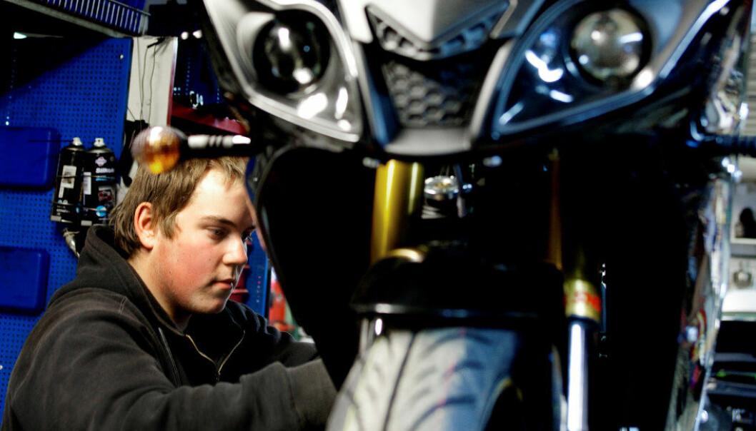 Ill.foto på Marcos motorsenter i Moss. Foto: Utdanning