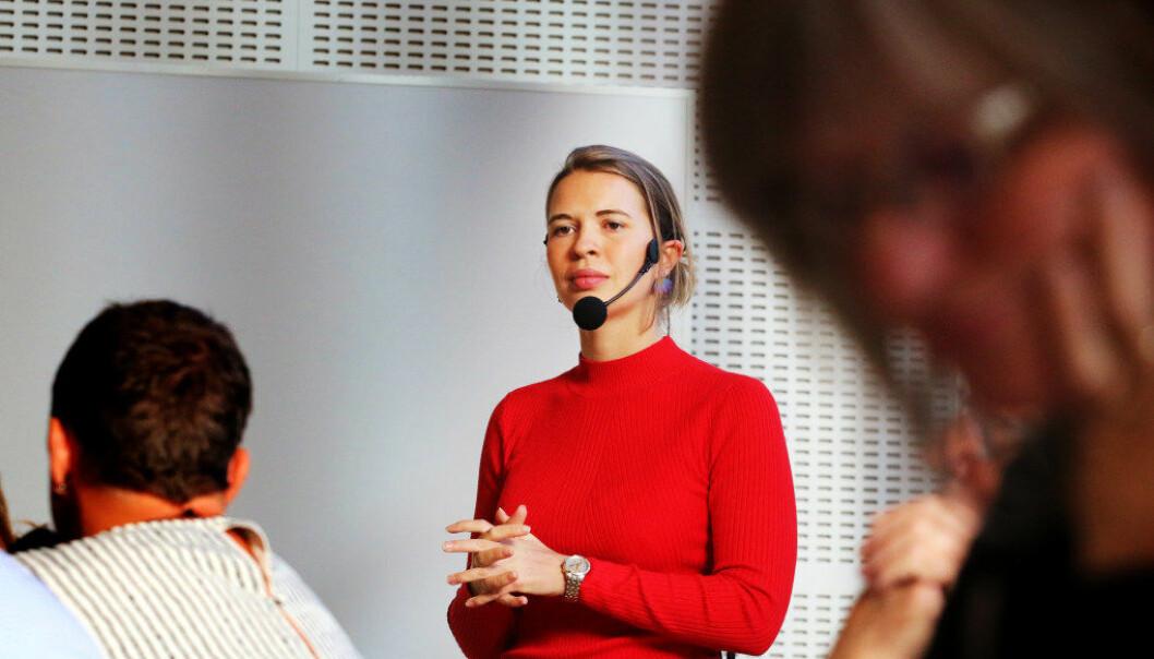 Advokatfullmektig Henriette Cecilie S. Breilid  sier det kan være vanskelig for en leder å vite hva de kan gjøre innenfor styringsretten. Foto: Jørgen Jelstad.