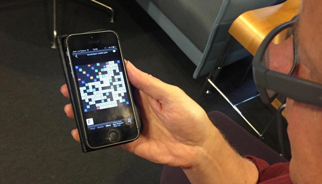 I kveld ved midnatt tar Wordfeud ibruk den nyeste ordlista til Norsk Scrabbleforbund. Illustrasjonsfoto: Paal Svendsen