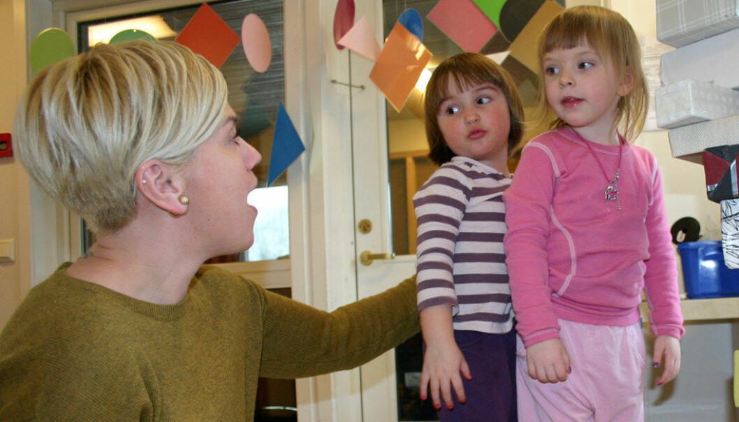 Norge ligger øverst blant OECD-landene når det gjelder offentlig satsing på barneahager, ifølge rapporten Education at a glance. Ill. foto: Birgit Røe Mathisen