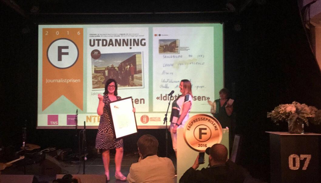 Saken om x-klassen blir tema på Arsendalsuka. Her fra prisutdelingen der journalist Kari Oliv Vedvik fikk journalistprisen. Foto: Paal Svendsen