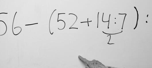 3 av 4 strøk på lærerutdanningens forkurs i matematikk