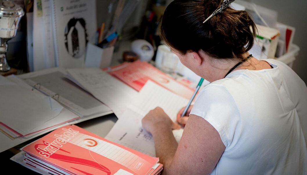 7 kommuner har søkt, men ingen har fått ja på å få starte forsøk med karakterer på barnetrinnet. Arkivfoto: Jan Inge Haga