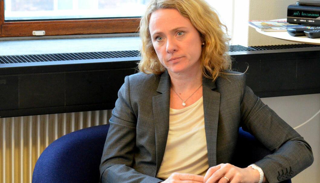 Arbeids- og sosialminister Anniken Hauglie møtte hovedorganisasjonene på arbeidstakersiden om den videre prosessen for offentlig tjenestepensjon tirsdag, men møtet brøt sammen Arkivfoto: Utdanning
