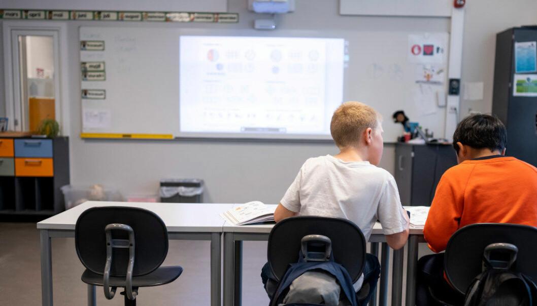 Færre ungdomsskolelærere bruker tid på å roe ned klassen enn før. Arkivfoto: Utdanning