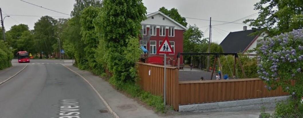 100meterskogen barnehage ligger i bydel Nordre Aker i Oslo. Foto: Google Maps.