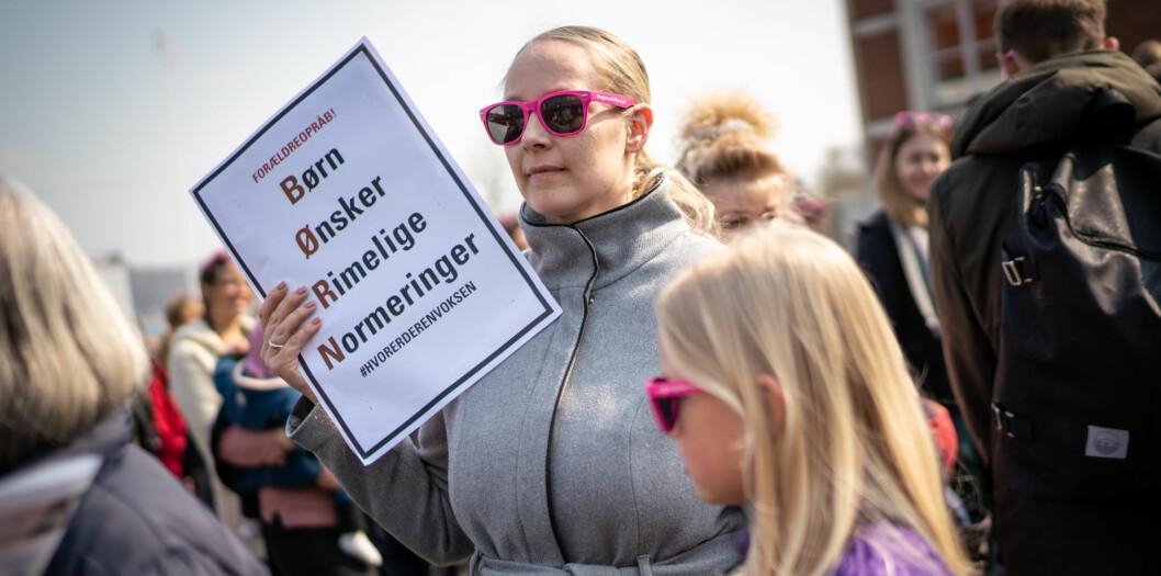 I vår har det være demonstrasjoner over hele Danmark for en bemanningsnorm i barnehagene.