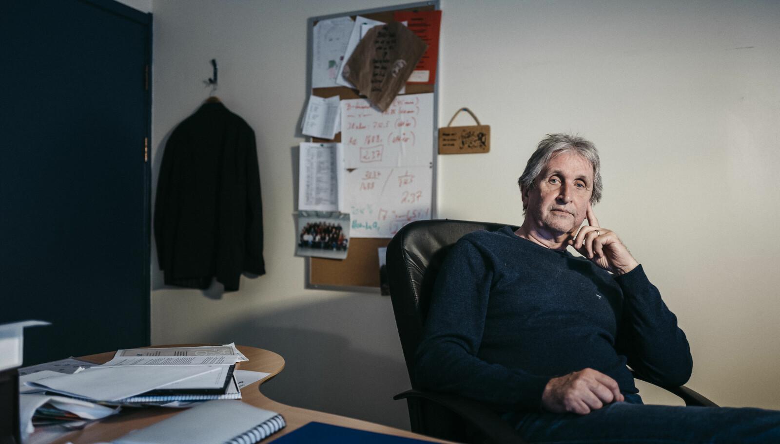 Johannes Johannessen, rektor ved Frakkagjerd ungdomsskole. FOTO: Tommy Ellingsen