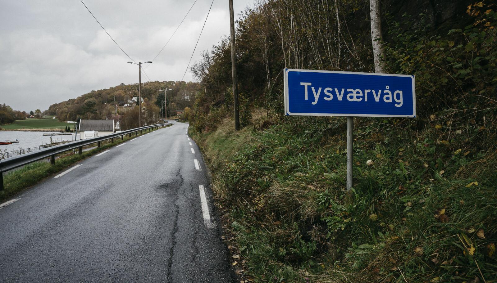 Veien til Tysværvåg. FOTO: Tommy Ellingsen