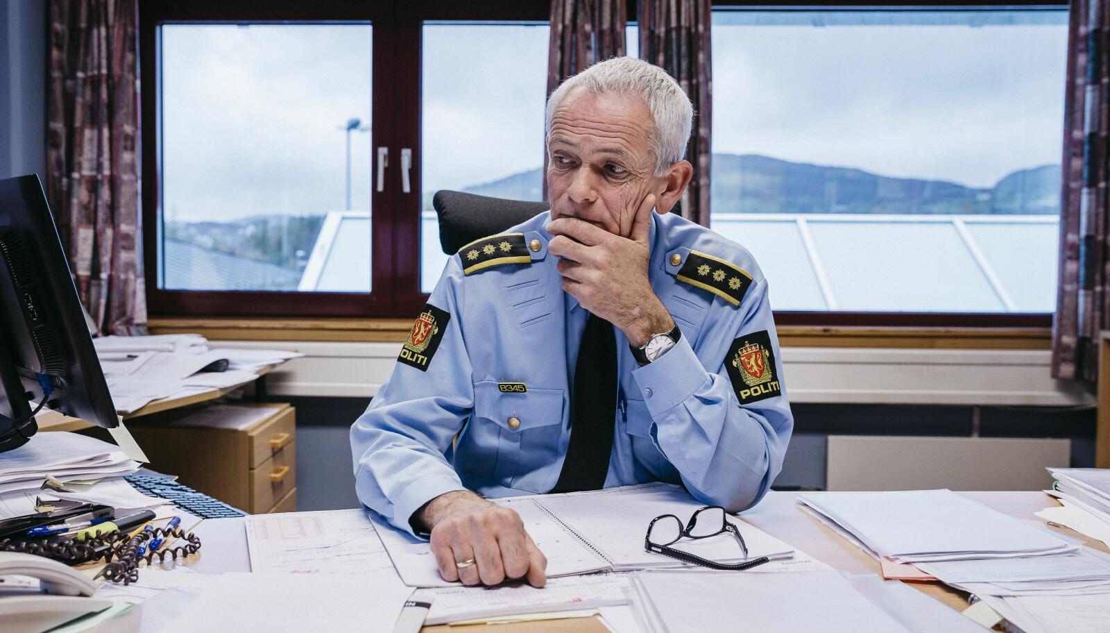 Racin Tjøsvoll, lensmann i Tysvær kommune. FOTO: Tommy Ellingsen