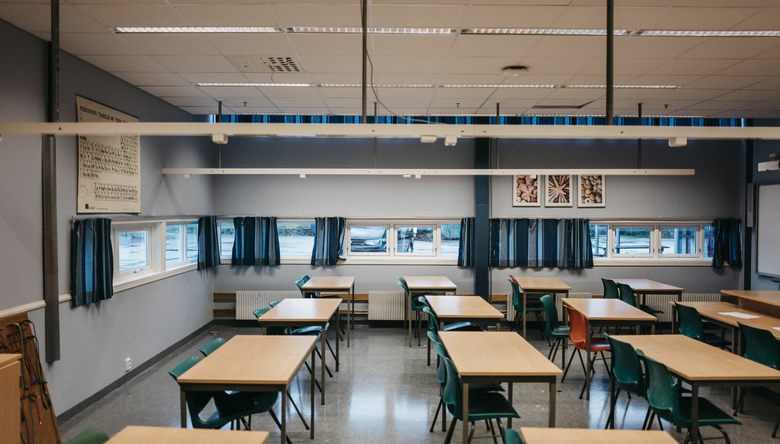 Klasserom på Frakkagjerd ungdomsskole. FOTO: Tommy Ellingsen