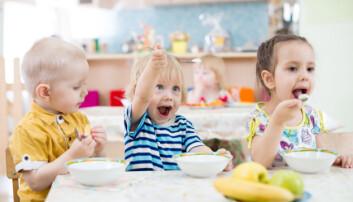Da barnehagen jobbet for å få gode samtaler under måltidet, fikk de flere barn til å snakke