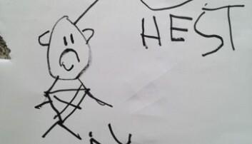 Barna som hadde delteke i aktivitetane med oppdagande skriving kunne identifisere og manipulere lydar i ord, dei var godt i gang med skriveutvikling og enkelte hadde begynt å lese, viser forskning.  Foto: Hilde Hofslundsengen