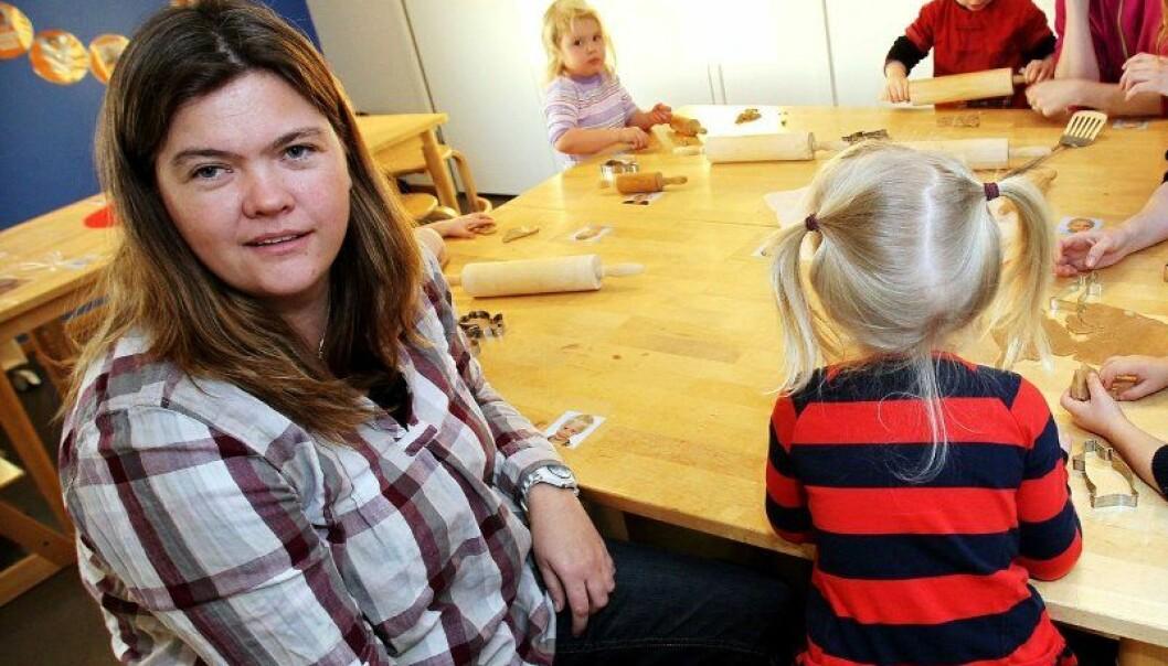 Jane Myran er daglig leder Sjøhagen FUS barnehage i Moss. Foto: Terje Holm