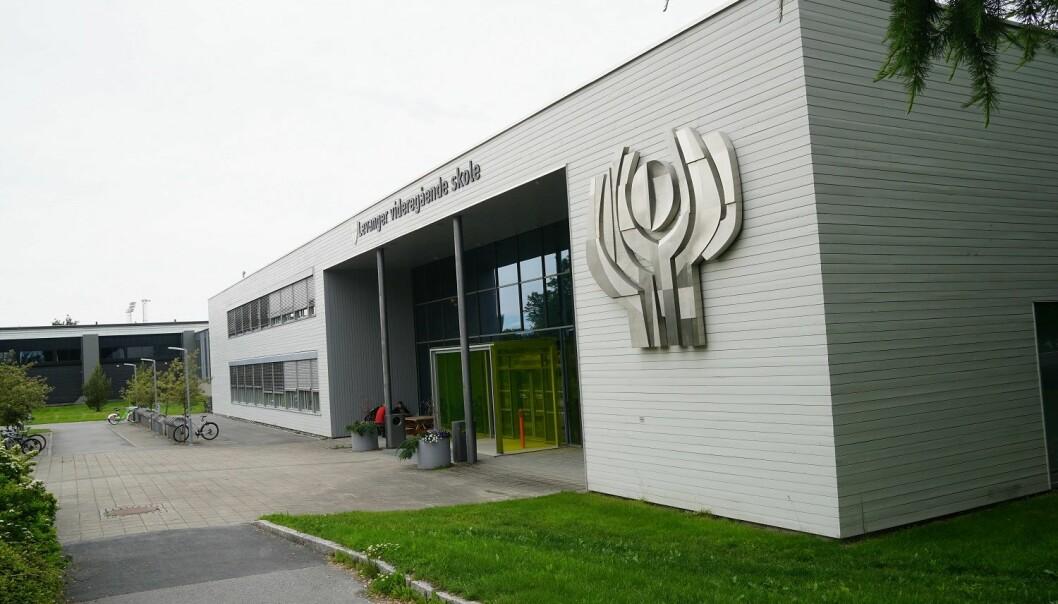 Ansatte, tillitsvalgte og elever kjemper for å beholde psykologtilbud i videregående skole i Trøndelag. Foto: Marianne Ruud