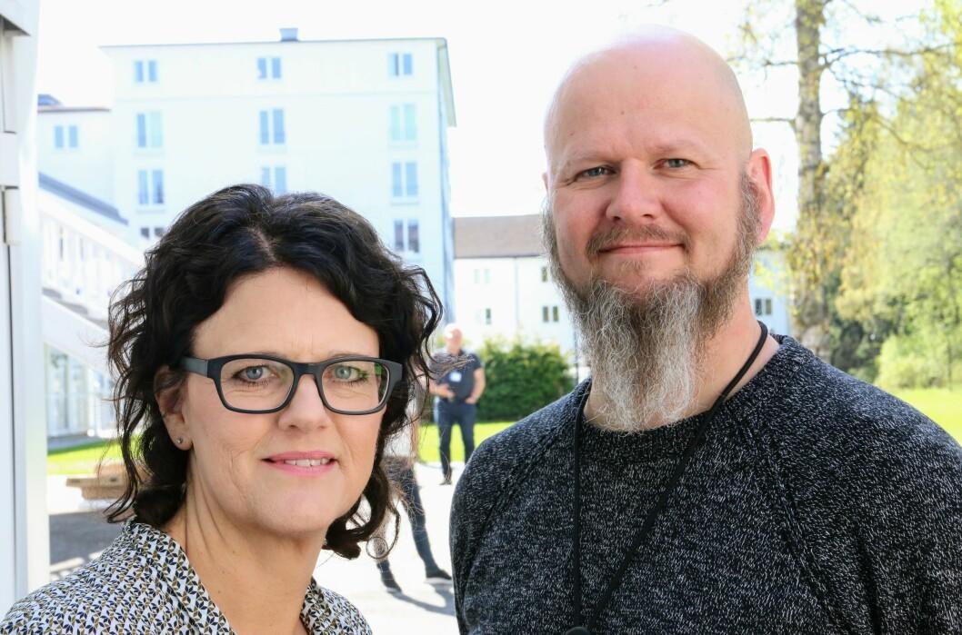 Fylkesleder Rannveig Theisen og nestleder Thore Johan Nærbøe. Foto: Jørgen Jelstad.
