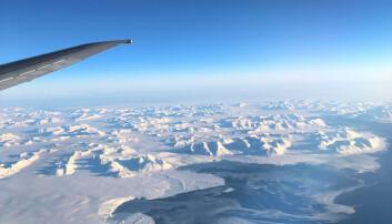 Svalbard sett fra lufta. Foto: Privat