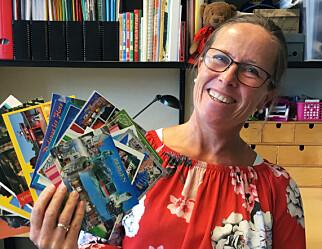 Vibeke sendte postkort til alle elevene sine i sommer