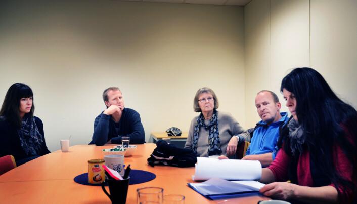 Lærere ved Gokstad skole: Therese Tyslum, Pål André Viken, Sigrid Vindenes, Gunnar Hansen og Inger Johanne Gran.