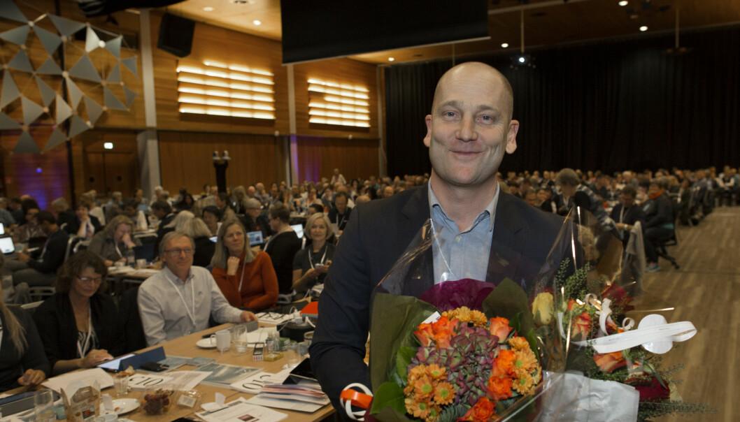 Steffen Handal ble valgt til leder for Utdanningsforbundet på landsmøtet på Lillestrøm i november 2015. Nå er han villig til en ny periode som forbundsleder. Arkivfoto: Tom-Egil Jensen