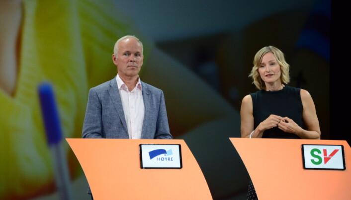 Jan Tore Sanner og Inga Marte Thorkildsen. Foto: Kari Oliv Vedvik