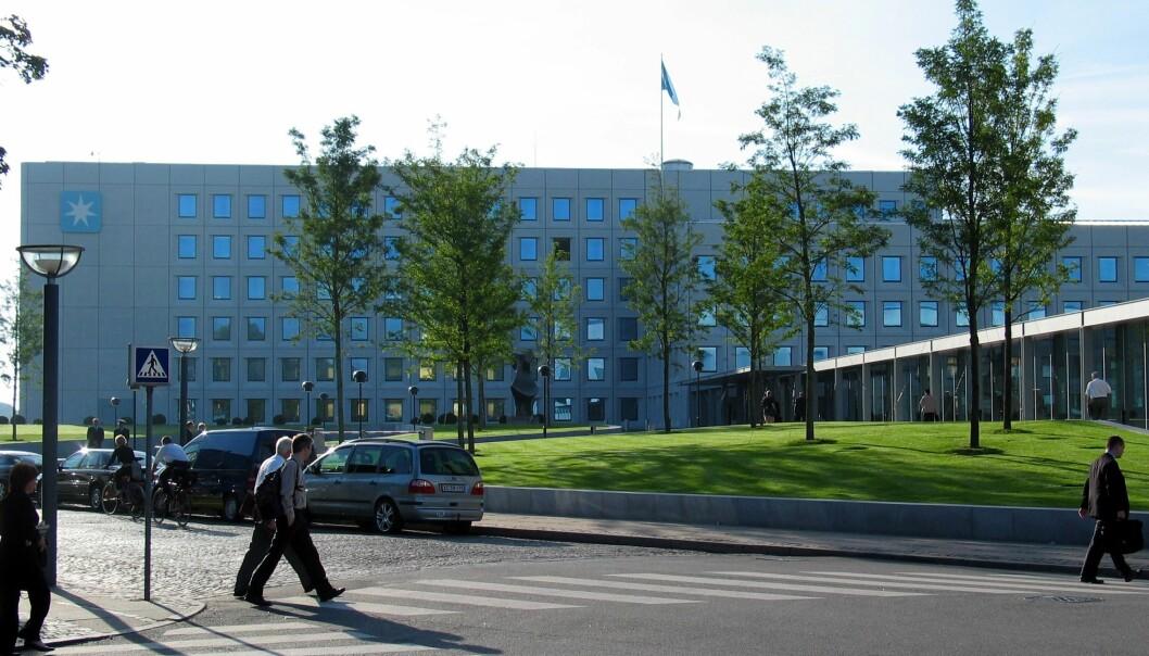 Hovedkvarteret til konsernet AP Møller - Mærsk på Esplanaden i København. Foto: Wikimedia Commons / Hans Andersen.