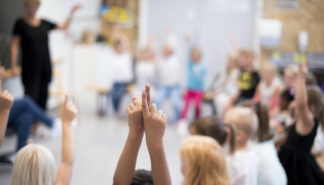 17 prosent av elevene i grunnskolen har innvandrerbakgrunn. Blant lærerne er andelen 6,1 prosent. Illustrasjonsfoto: Erik M. Sundt