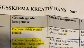 «Du danser tidvis rytmisk korrekt»