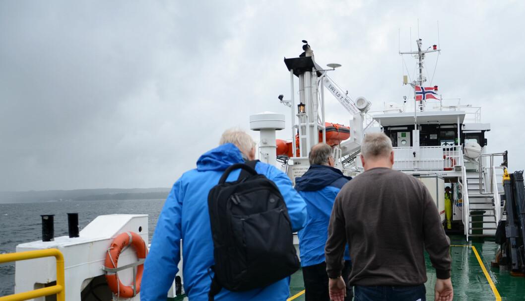 Alle ansatte ved Bastøy fengsel må ta ferje frem og tilbake til øya for å komme på jobb. Foto: Kari Oliv Vedvik