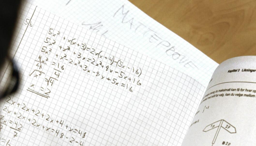 Høyre går til valg på å teste ut anonym retting av prøver, blant annet i Bergen. Arbeiderpartiet svarer at anonym retting ikke er til fordel for elevene. Foto: Tom-Egil Jensen