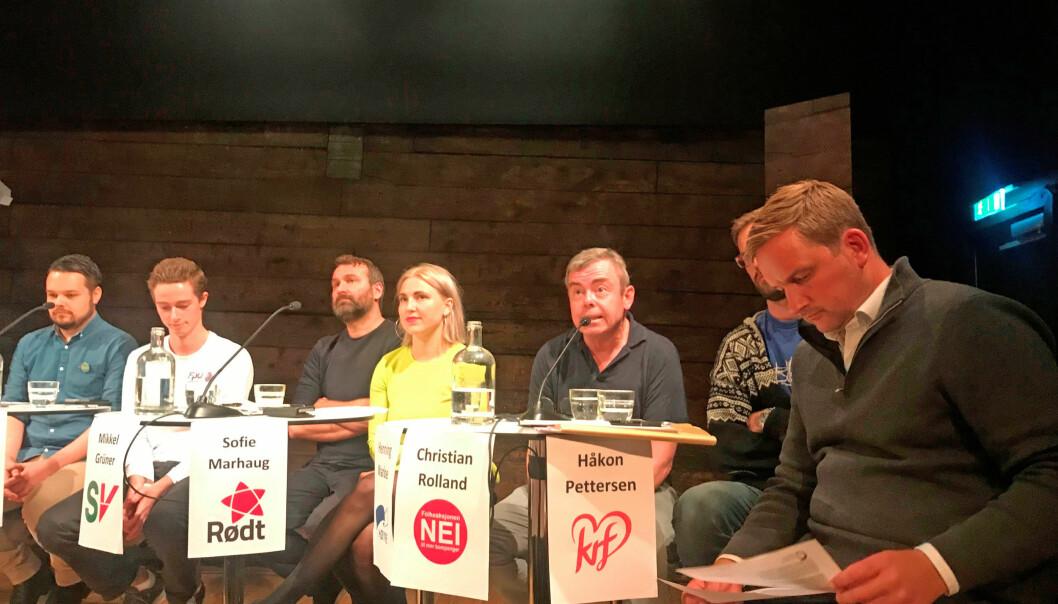 En uke før valget stilte lokalpolitikere i Bergen til debatt om skolen og barnehagens framtid i byen. Foto: Utdanningsforbundet Bergen.