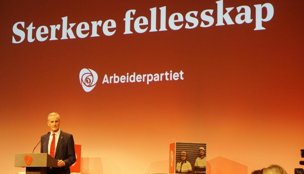Partileder Jonas Gahr Støre sa at Arbeiderpartiet har ført en valgkamp i motvind. I Oslo ser det likevel ut til at de rødgrønne beholder makten. Foto: Marainne Ruud