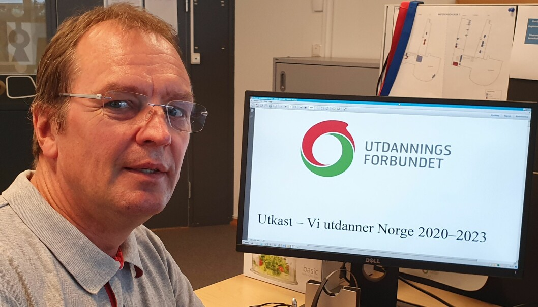 Hvis landsmøtesaken «Vi utdanner Norge» munner ut i en prosatekst uten handlingspunkter, er Asle Jahren bekymret for at bestillingene får mindre styrke. Foto: Privat.